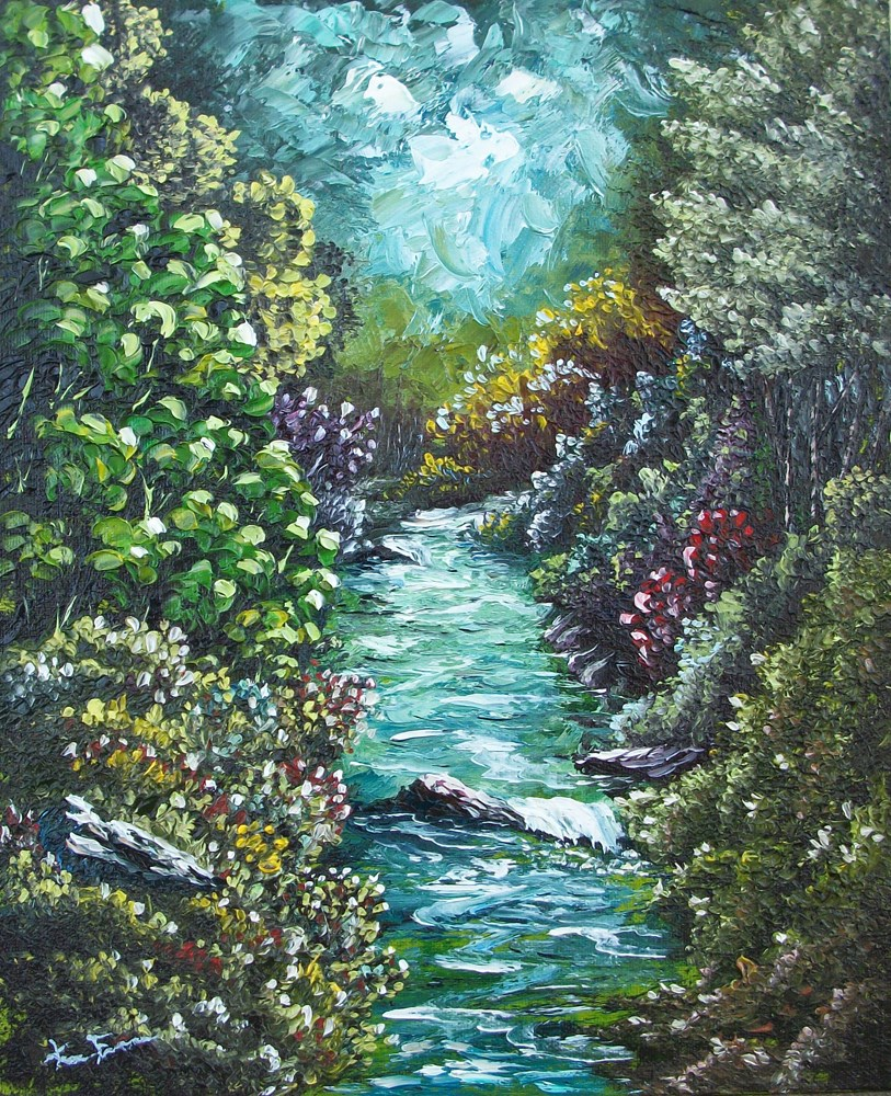 """Color Creek"" original fine art by Ken Fraser"
