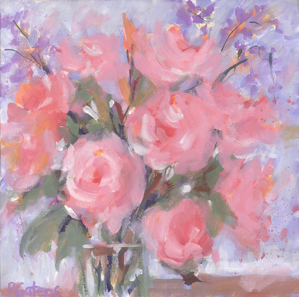 """Champagne Pinks"" original fine art by Pamela Gatens"
