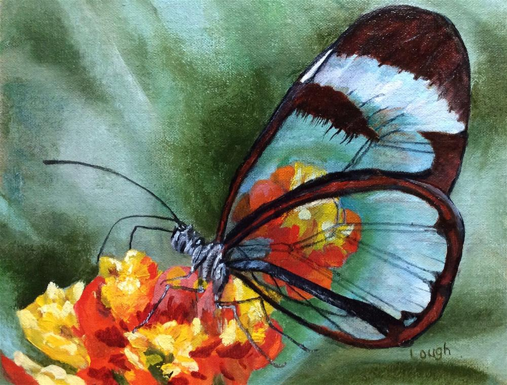 """Glass Winged Butterfly"" original fine art by Charlotte Lough"