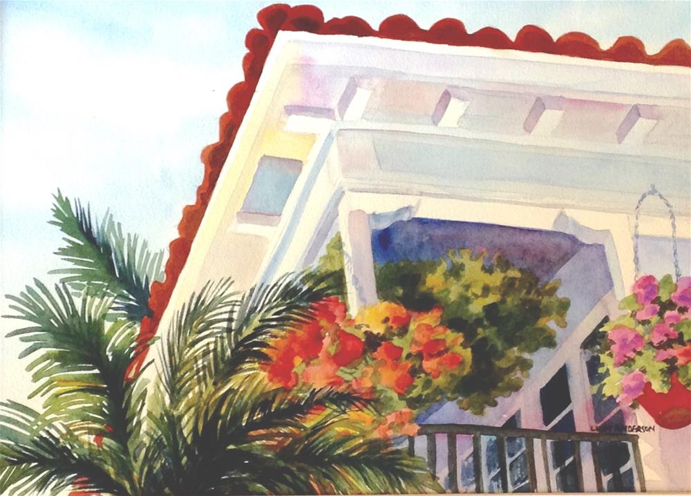 """Hotel California"" original fine art by Libby Anderson"