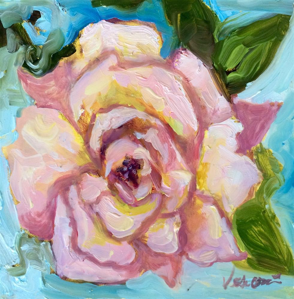 """Rose 3"" original fine art by Valerie Vescovi"