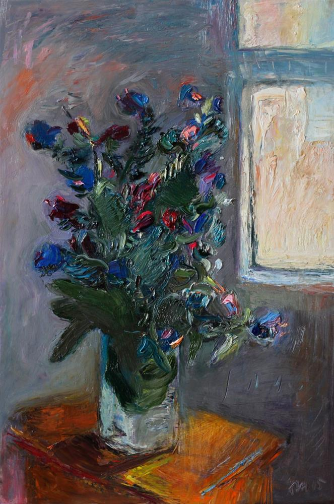 """Bouquet of Wild Flowers by the Window"" original fine art by Anna  Fine Art"