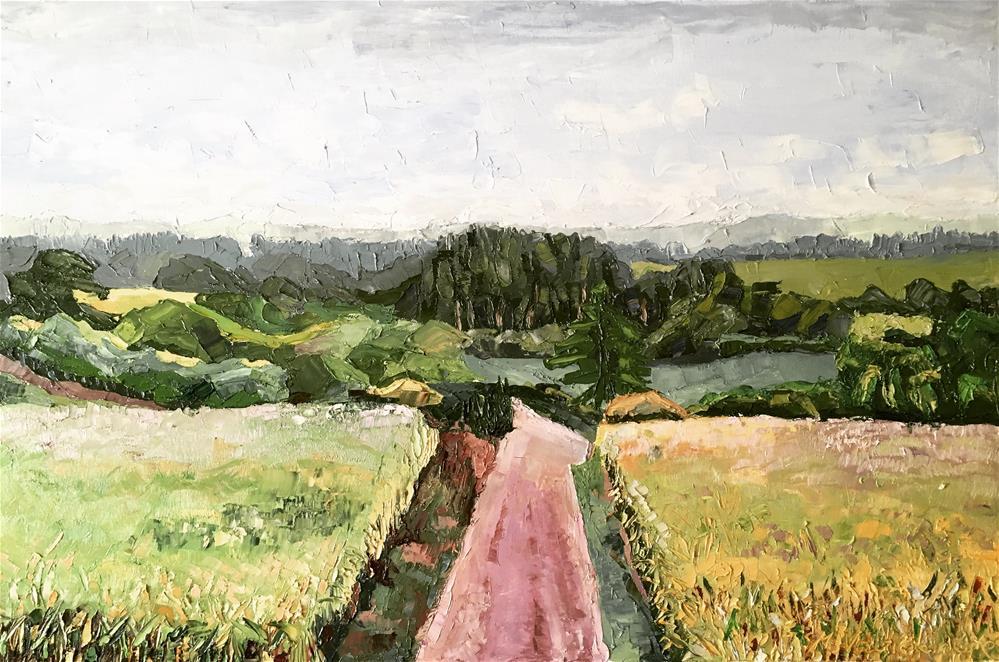 """The Road"" original fine art by Milda Vaitiekunaite"