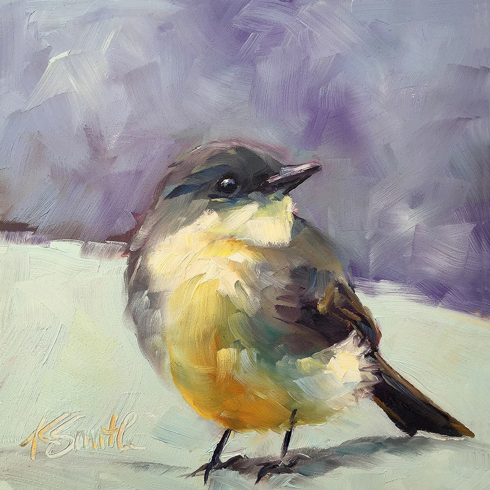 """eastern phoebe"" original fine art by Kim Smith"