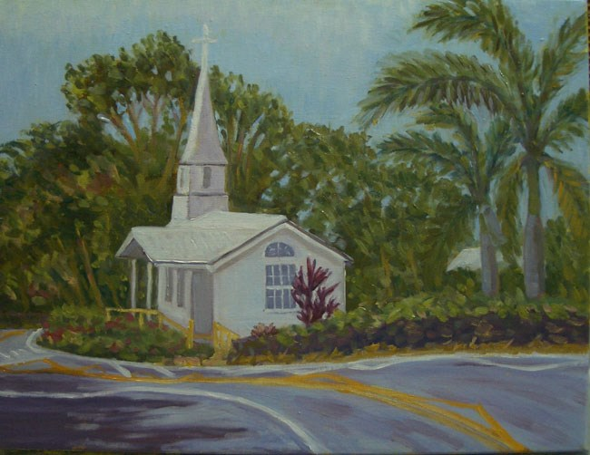 """Holualoa Church"" original fine art by Stan Chraminski"