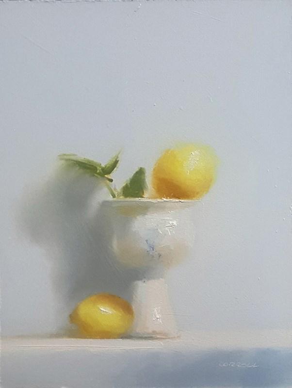 """Goblet and Lemons"" original fine art by Neil Carroll"