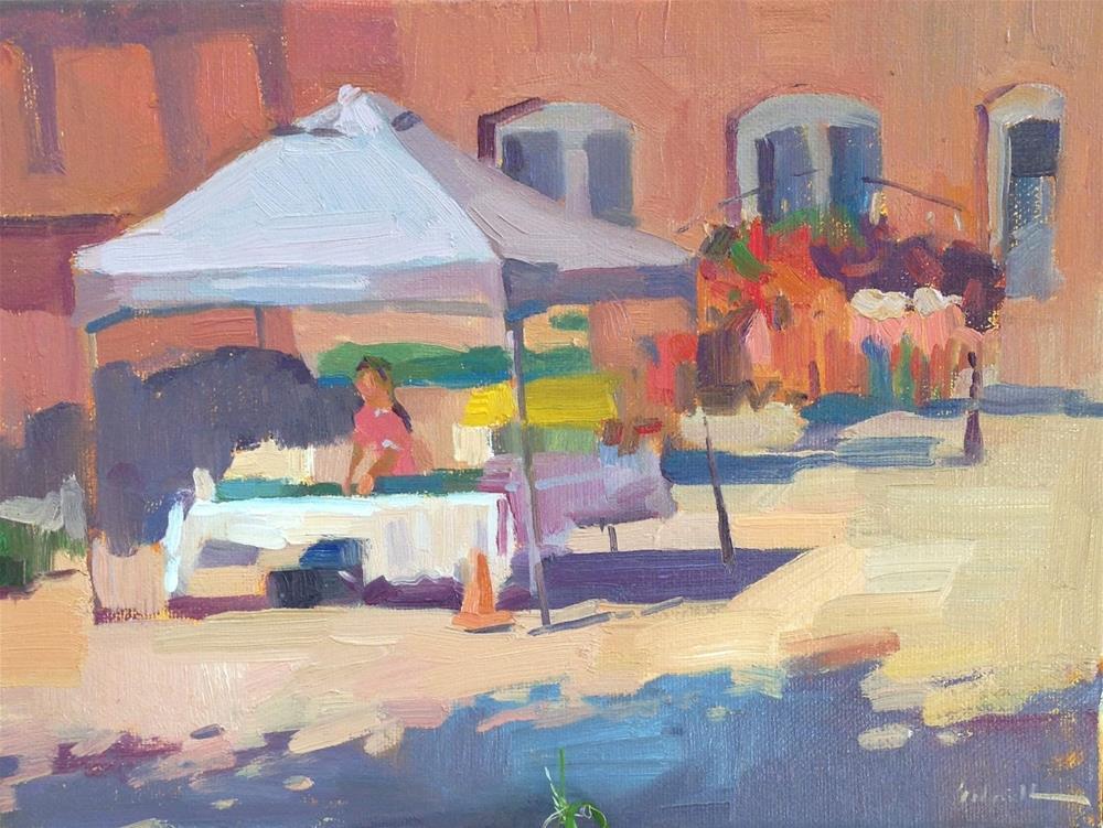 """Corvallis Farmer's Market"" original fine art by Sarah Sedwick"