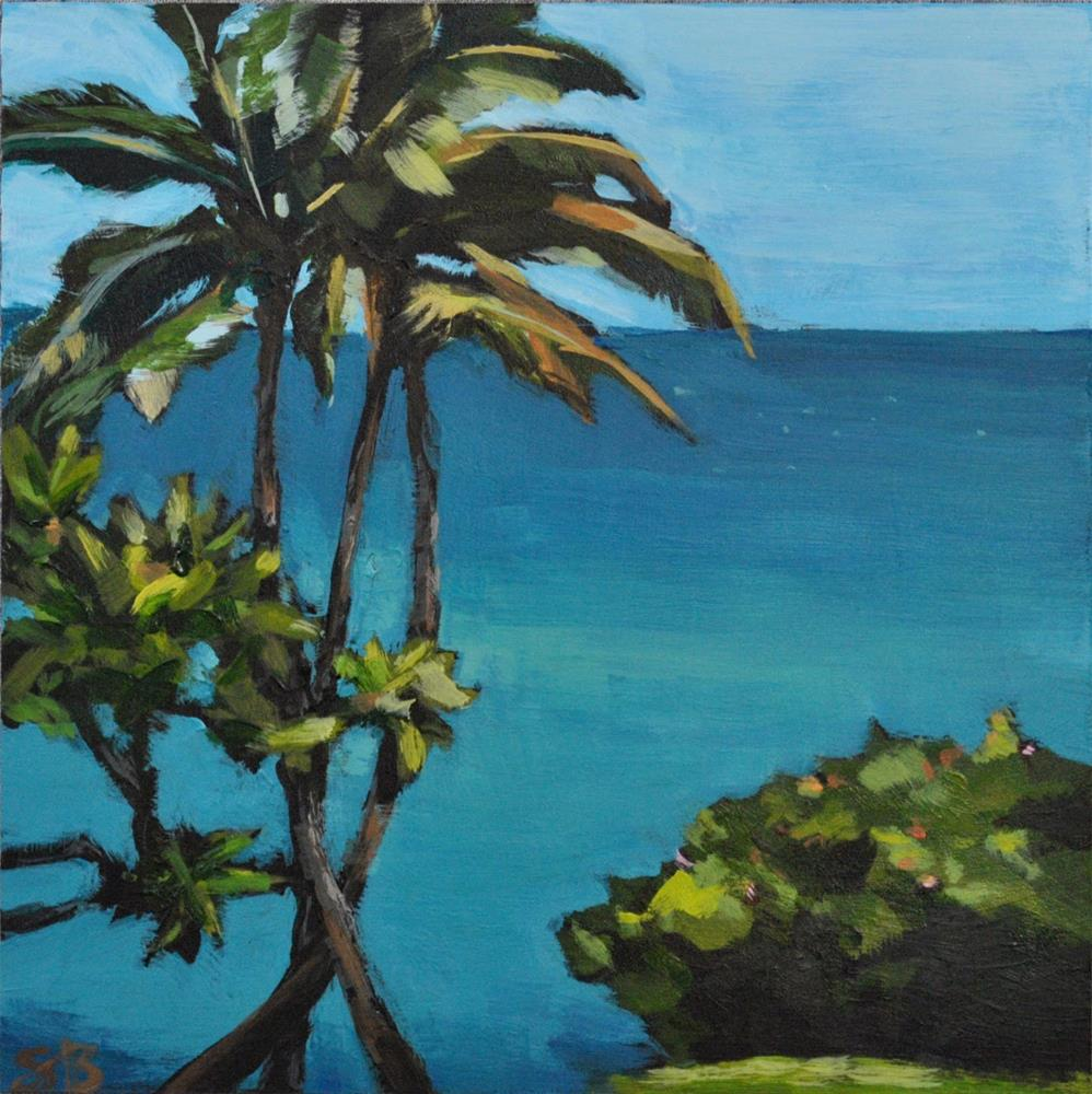 """Poipu Waters"" original fine art by Shari Buelt"
