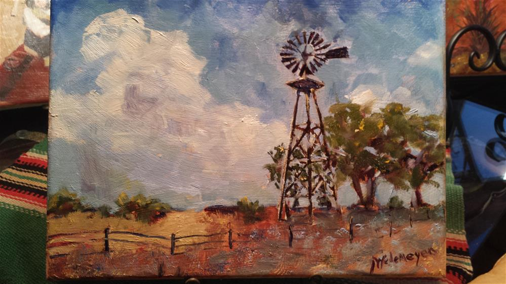 """The Windmill Path"" original fine art by Pamela Wedemeyer"