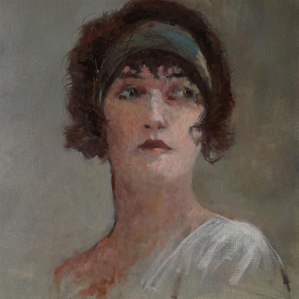 """vintage portrait"" original fine art by Christine Bayle"