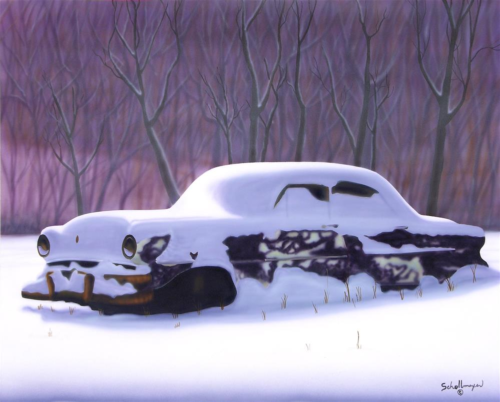 """Snowed Under"" original fine art by Fred Schollmeyer"