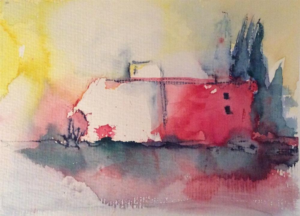 """On the way to Venice"" original fine art by Klaudia Frieda"