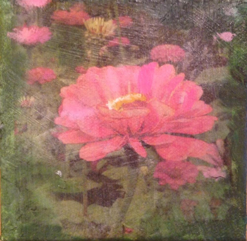 """Z is for Zinnia"" original fine art by barbara quast"