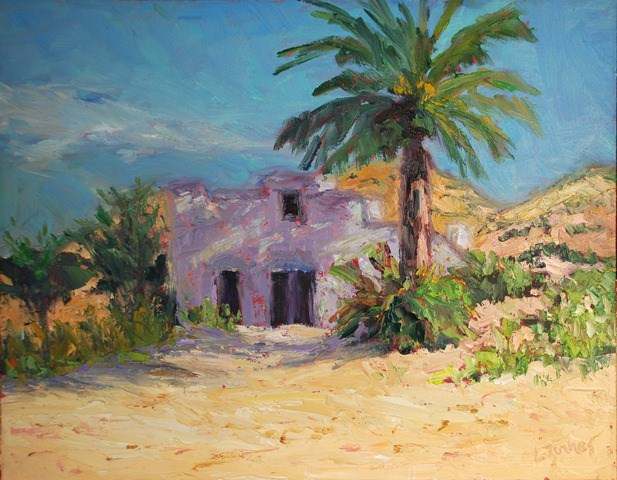 """Big Bend Adobe Post Office"" original fine art by Liz Zornes"