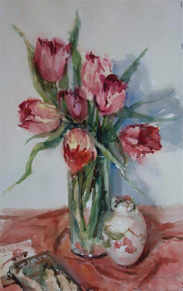 """Tulip Glow"" original fine art by Lorraine Lewitzka"