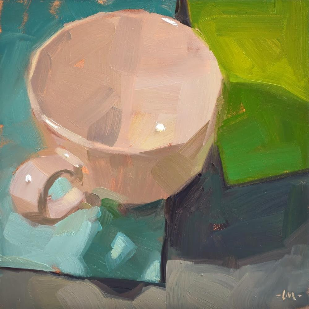 """Simple Cup 4"" original fine art by Carol Marine"