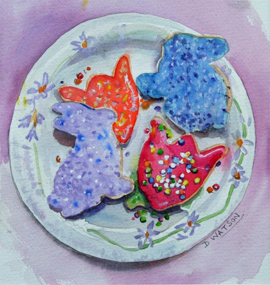 """Cookies"" original fine art by Deb Watson"