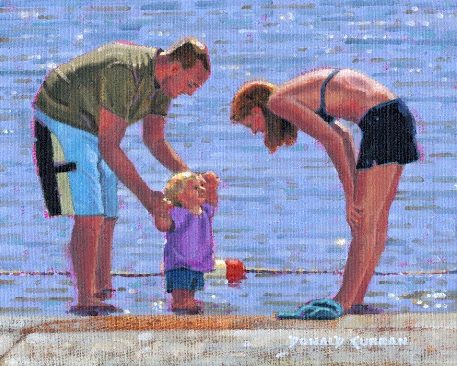 """Parents"" original fine art by Donald Curran"