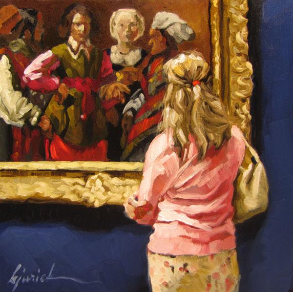 """Misfortune & a New Book"" original fine art by Karin Jurick"
