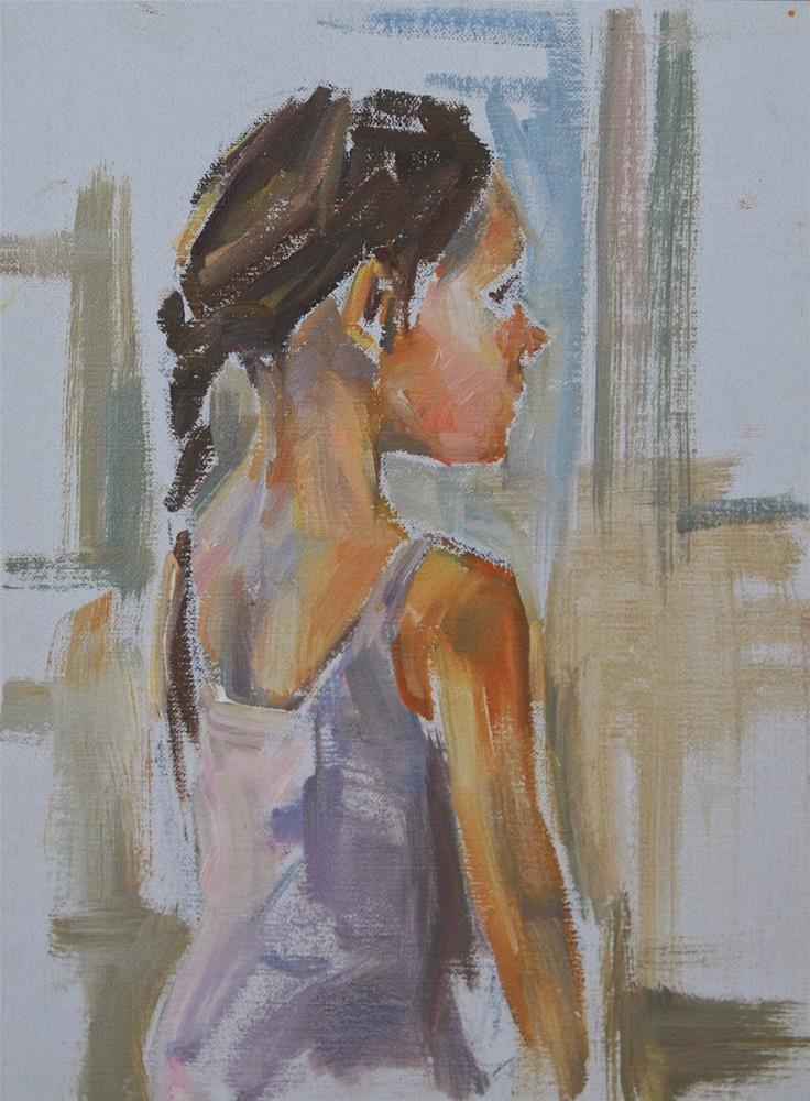 """Ballerina, Original figurative oil"" original fine art by Carol DeMumbrum"