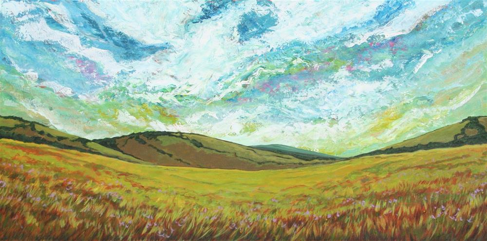 """Green Meadow"" original fine art by Sage Mountain"