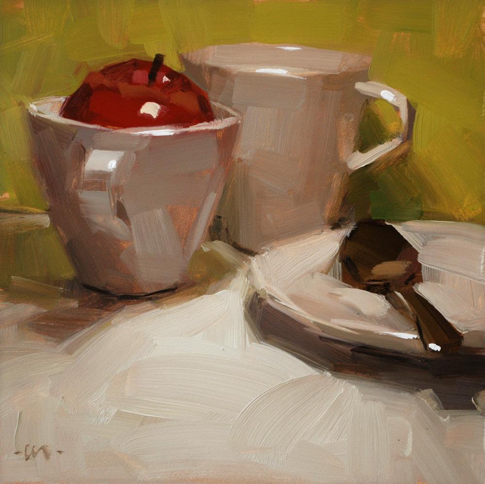 """Euro Dishes"" original fine art by Carol Marine"