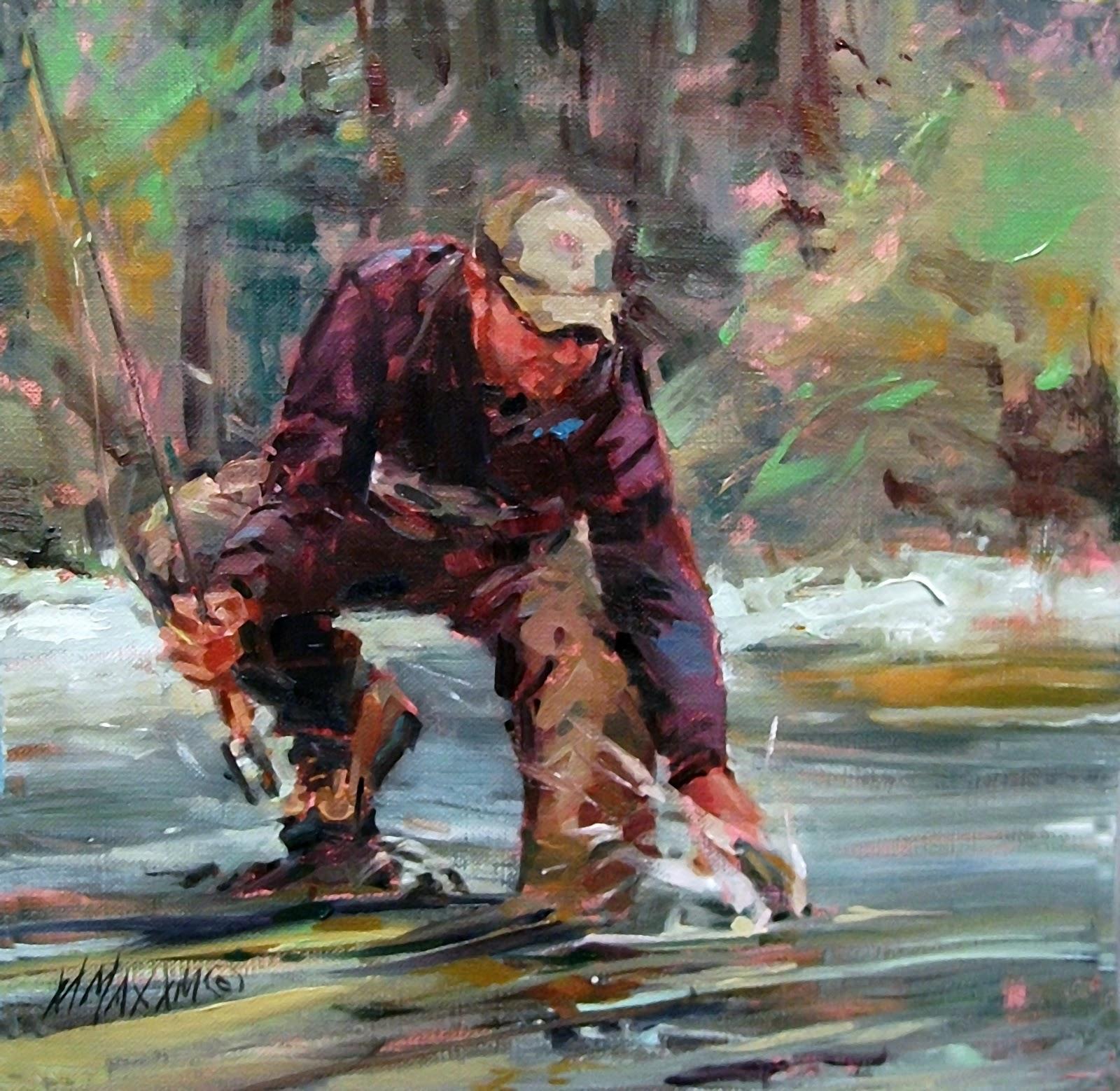 """""""Back You Go"""" original fine art by Mary Maxam"""