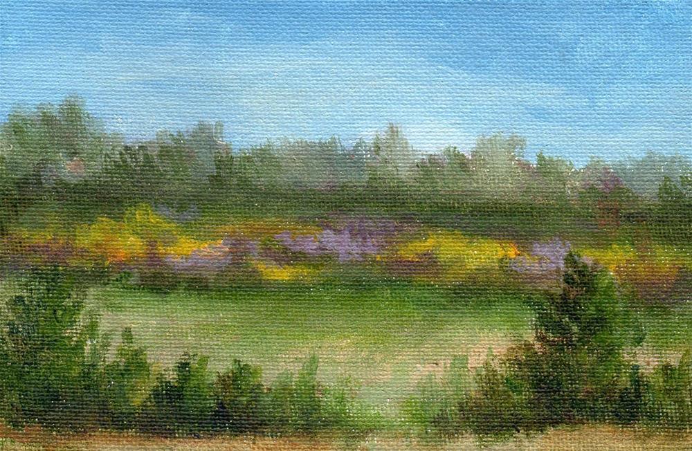 """Passing Field"" original fine art by Debbie Shirley"