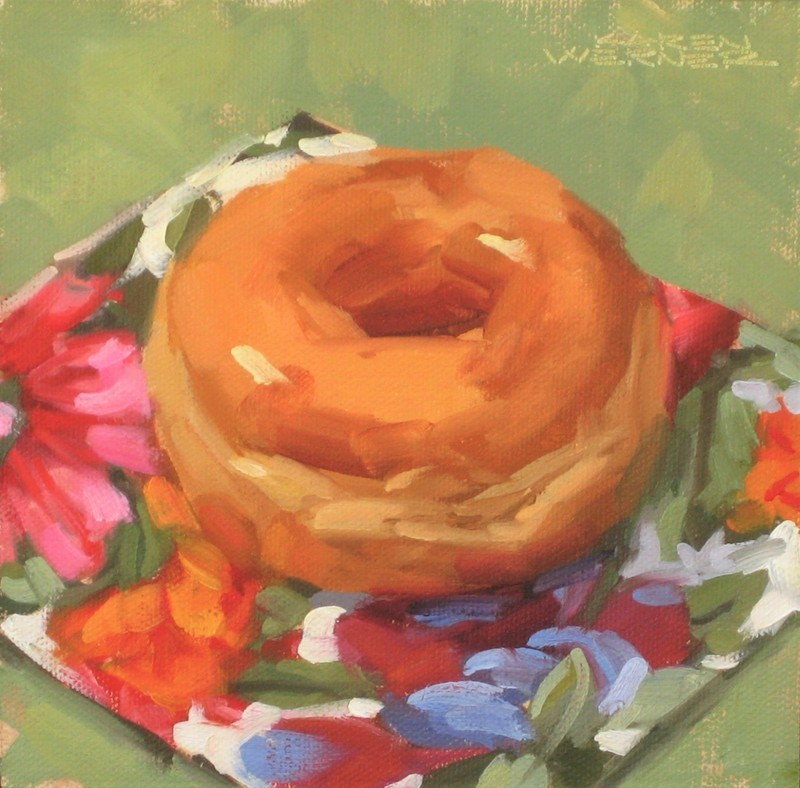 """Happy Donut"" original fine art by Karen Werner"