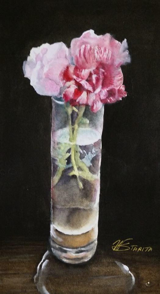"""Moss Roses"" original fine art by Wendy Starita"