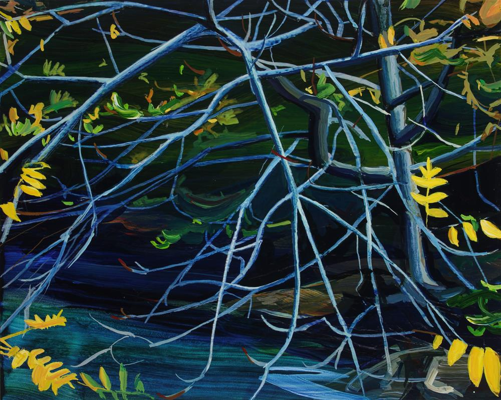 """Yellow Leaves II"" original fine art by Chris Breier"
