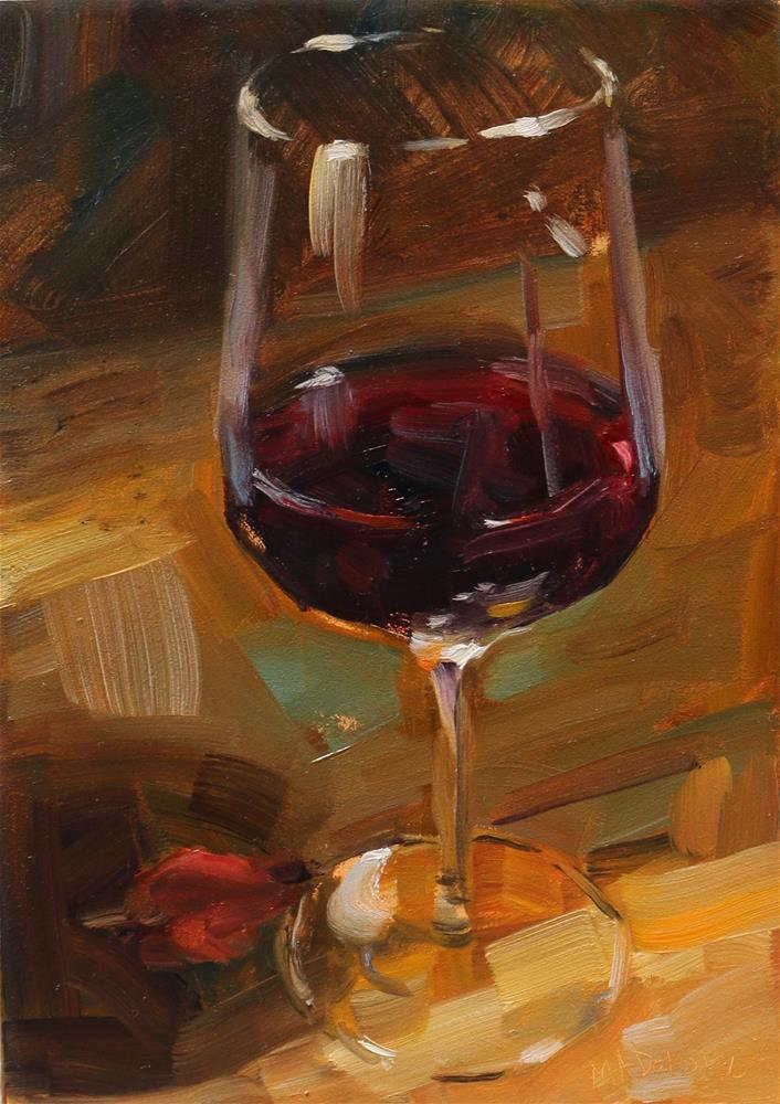 """Time for a wine"" original fine art by Miranda Dalessi"