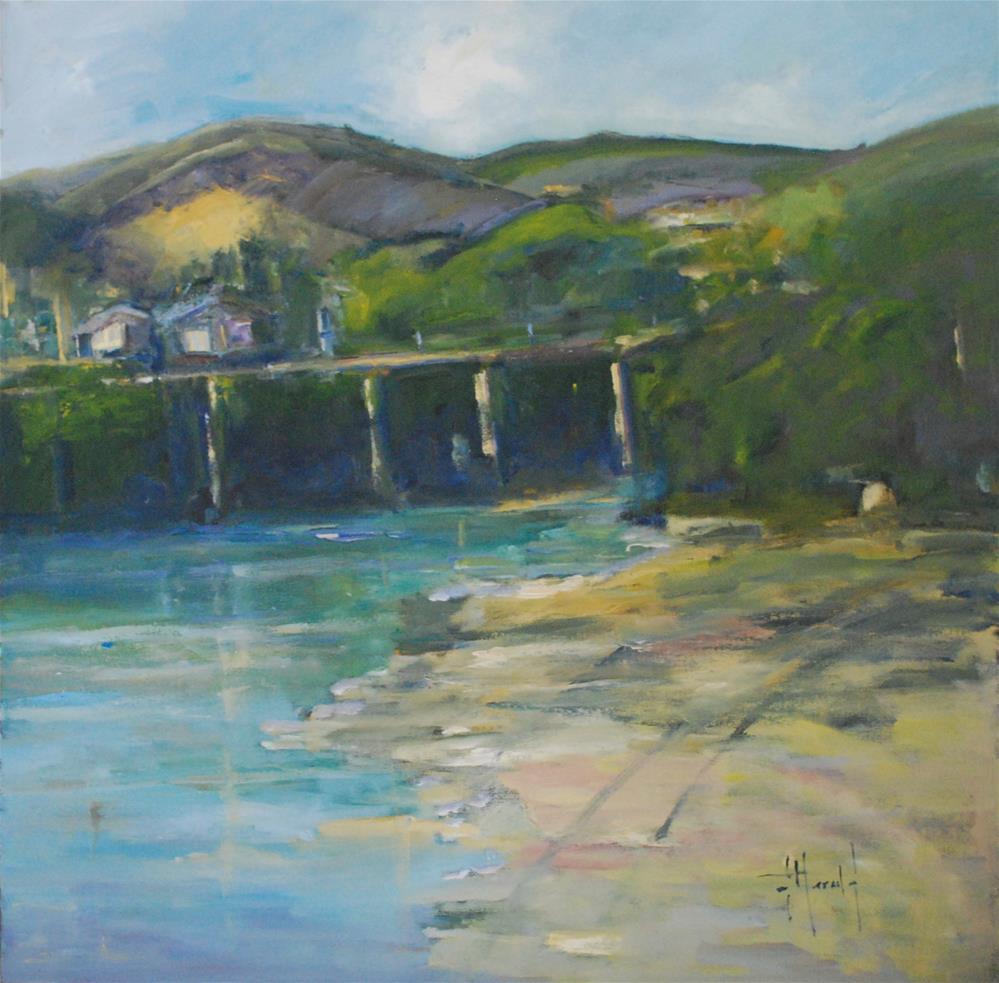 """""""Highway 1"""" original fine art by Deborah Harold"""