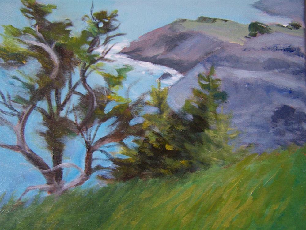 """Newfoundland Shoreline"" original fine art by Joan Reive"
