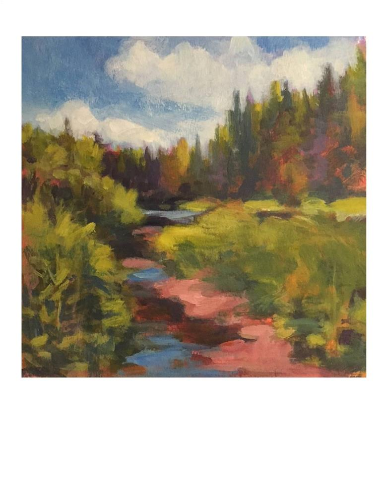 """Vermont Stream 1"" original fine art by Suzanne Woodward"