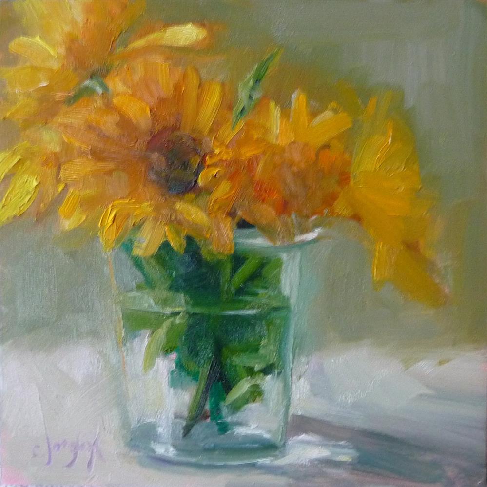 """""""Garden Mums"""" original fine art by Carol Josefiak"""