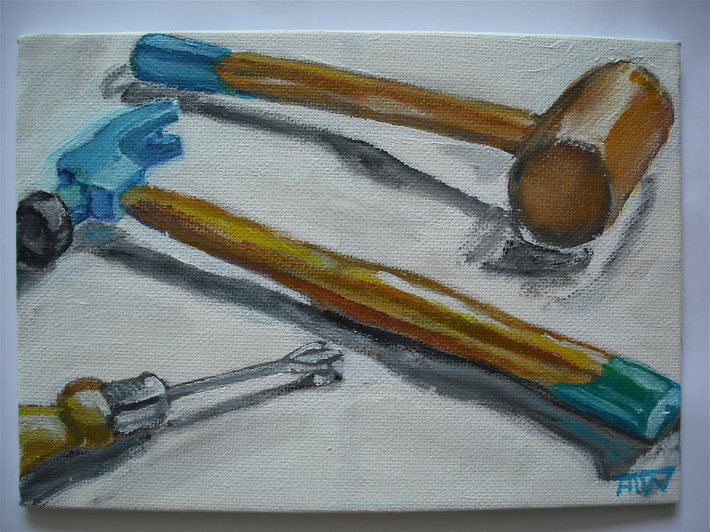 """Tool Trio"" original fine art by Heather Whiting"