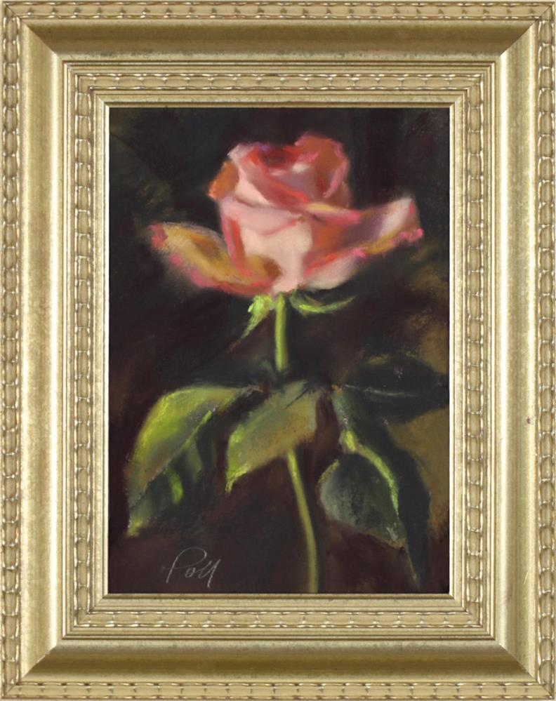 """One Rose"" original fine art by Pamela Poll"