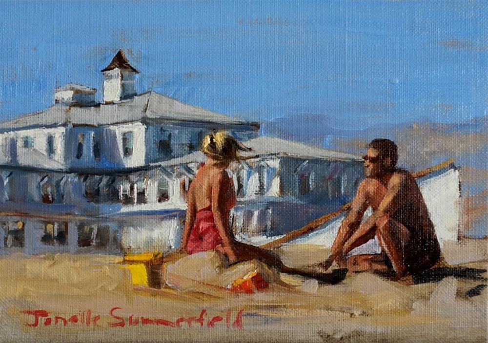 """Cape May Castle Construction"" original fine art by Jonelle Summerfield"