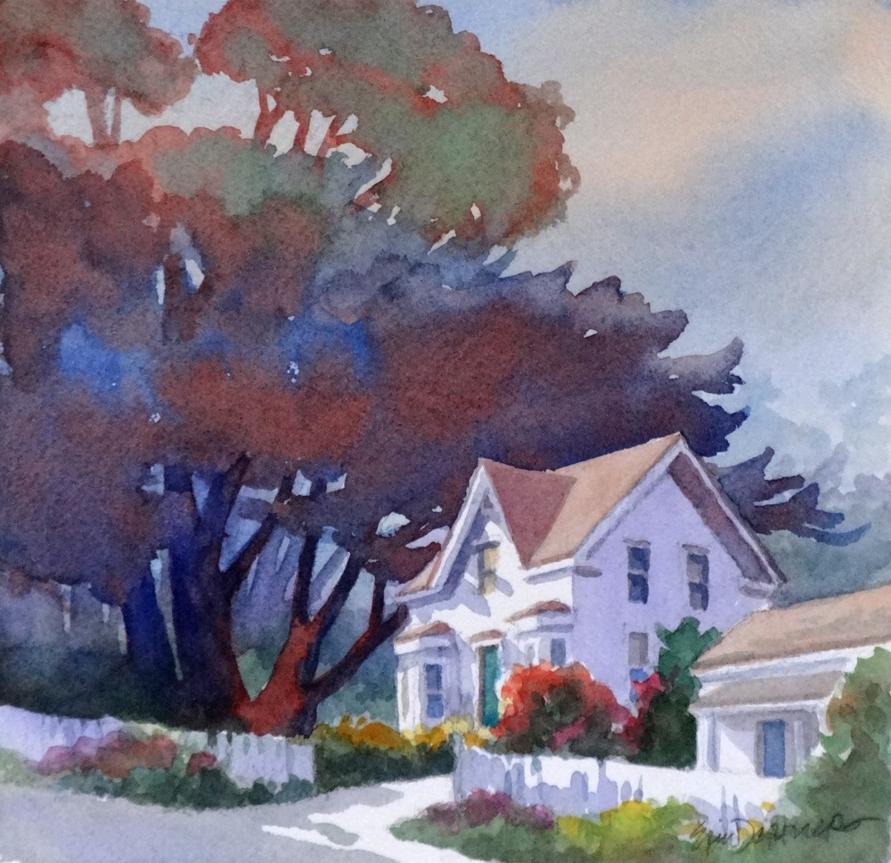 """Blue Door Inn"" original fine art by Erin Dertner"