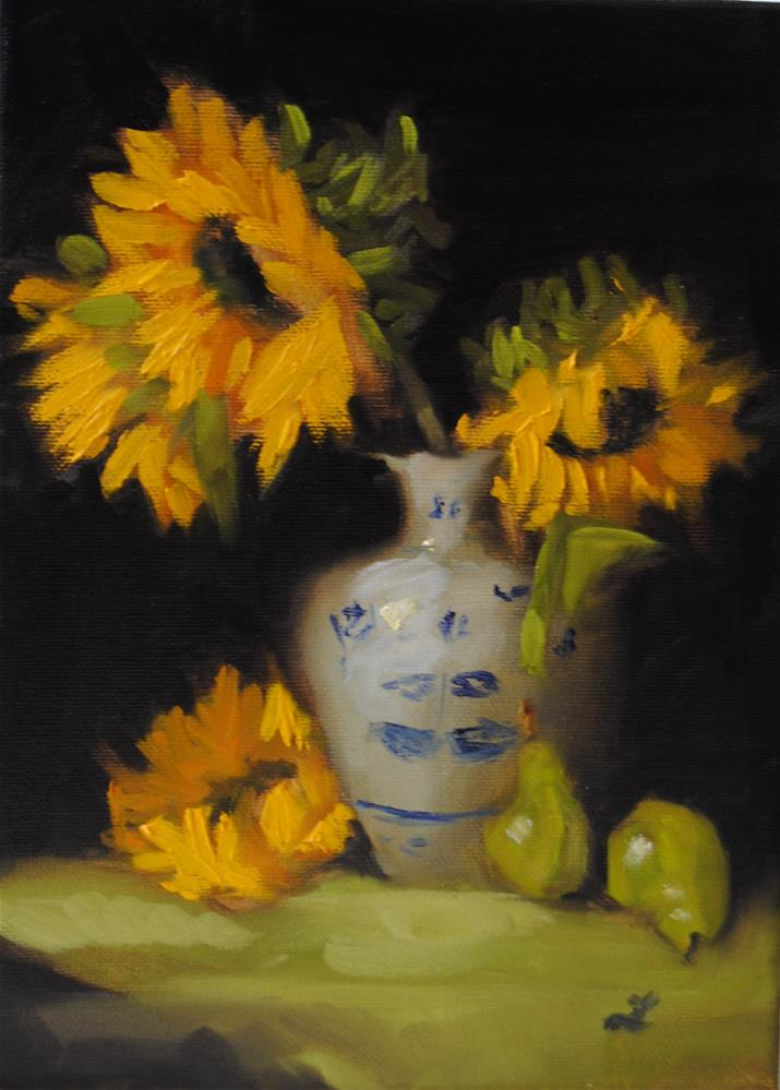 """Sunflower study"" original fine art by Lori Jacobs - Farist"