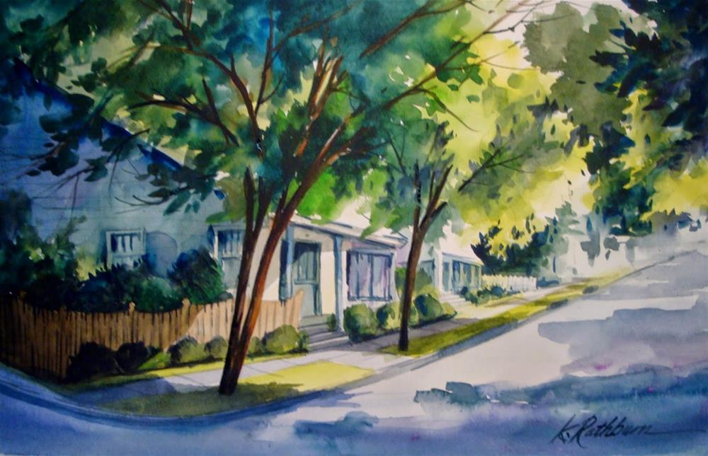 """Summer Street"" original fine art by Kathy Los-Rathburn"