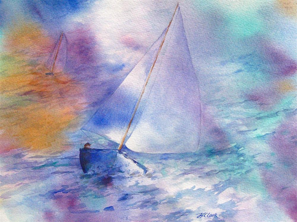 """Dream Boats"" original fine art by Judith Freeman Clark"