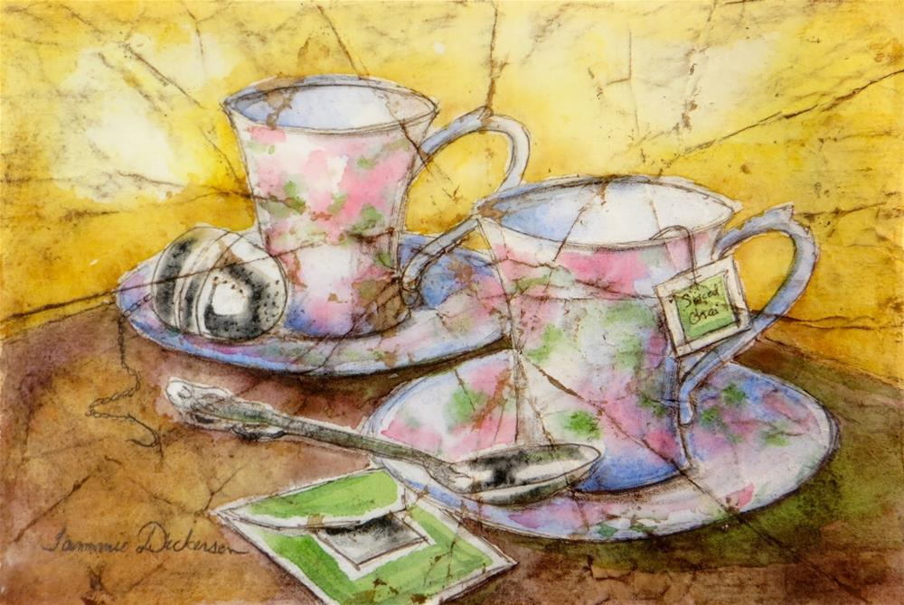 """Time for Tea"" original fine art by Tammie Dickerson"