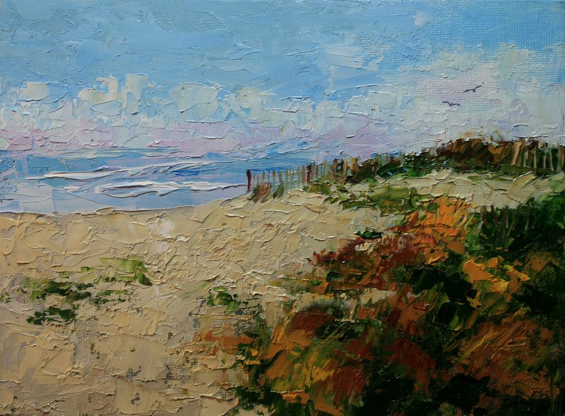 """Island Beach"" original fine art by Jean Nelson"