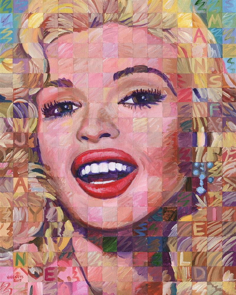 """""""Jayne Mansfield"""" original fine art by Randal Huiskens"""