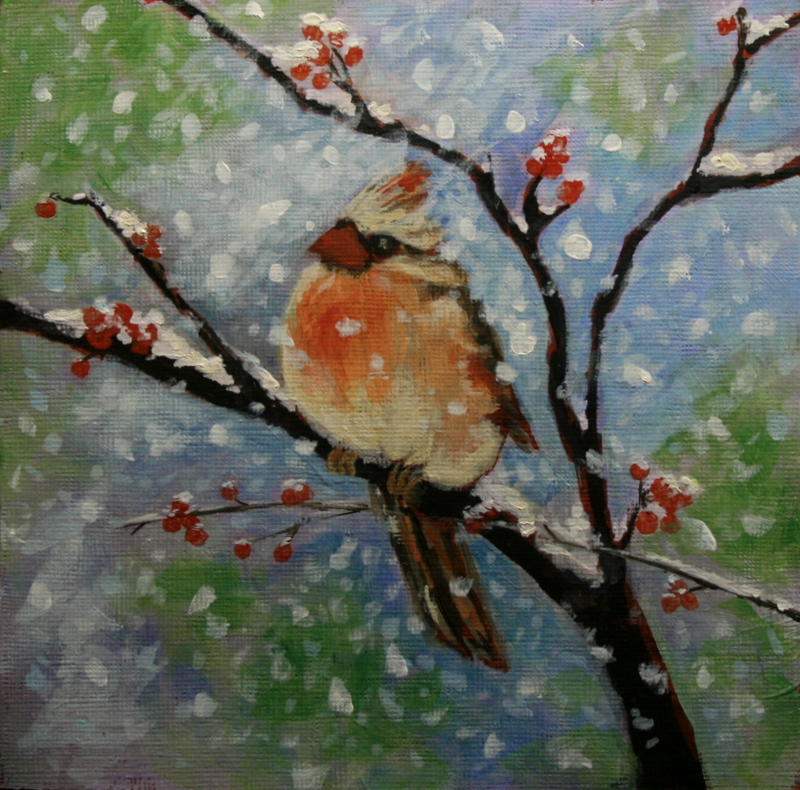 """Wintering Over"" original fine art by Jean Nelson"