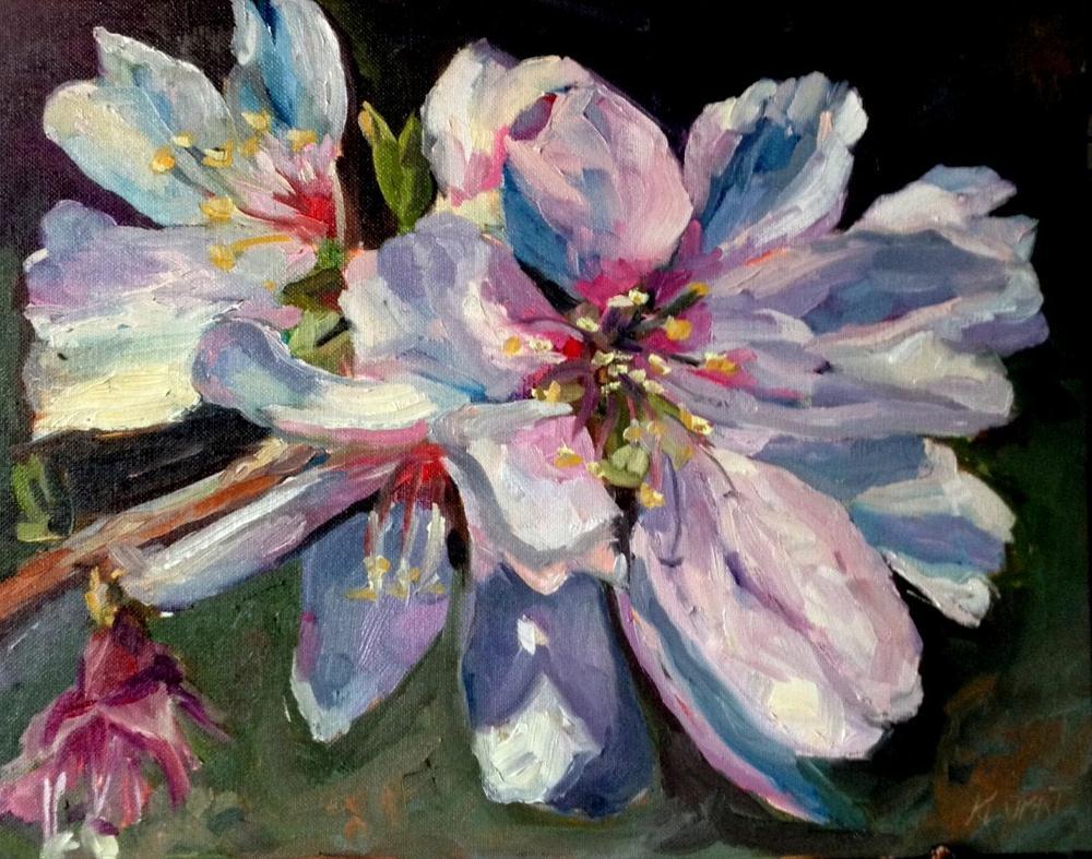 """white blossom"" original fine art by Kristen Dukat"