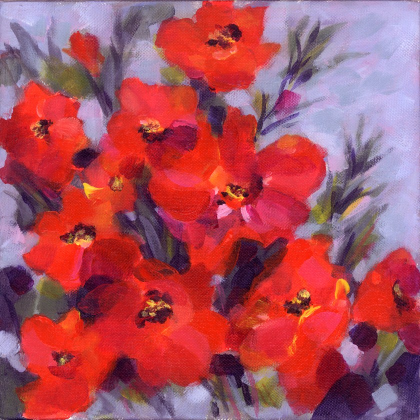 """Poppy Profusion"" original fine art by Pamela Gatens"