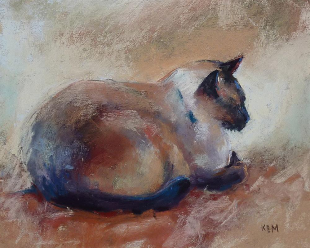 """Demo Monday...How to Paint a Cat in Pastel"" original fine art by Karen Margulis"